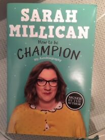 SARAH MILLICAN - HOW TO BE CHAMPION BOOK - SIGNED BY THE AUTHOR - BRAND NEW GREAT CHRISTMAS GIFT