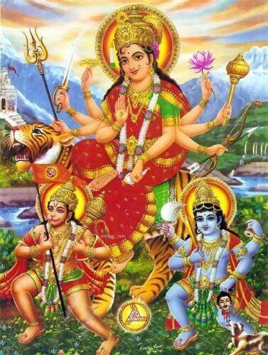 Kali, Hanuman and Krishna Art Poster Print. Hinduism Hindu God India