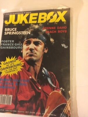 (Jukebox July 1988 French Magazine Bruce Springsteen Beach Boys Johnny Cash Rare!)