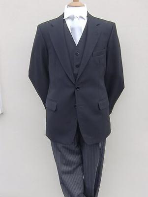 schwarz Beerdigung Directors Morgen Anzug Jacke alle Größen