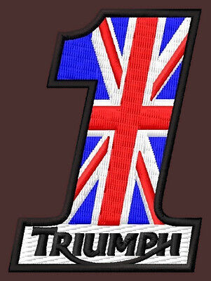 """TRIUMPH NR.1 EMBROIDERED PATCH~2-3/4""""x 2"""" MOTORCYCLE ROCKETIII TIGER BONNEVILLE"""