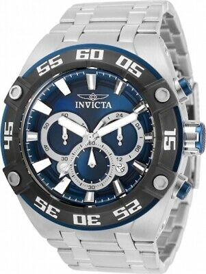 Invicta Coalition Forces 30652 Men's 50mm S/Steel Blue Dial Chrono Watch
