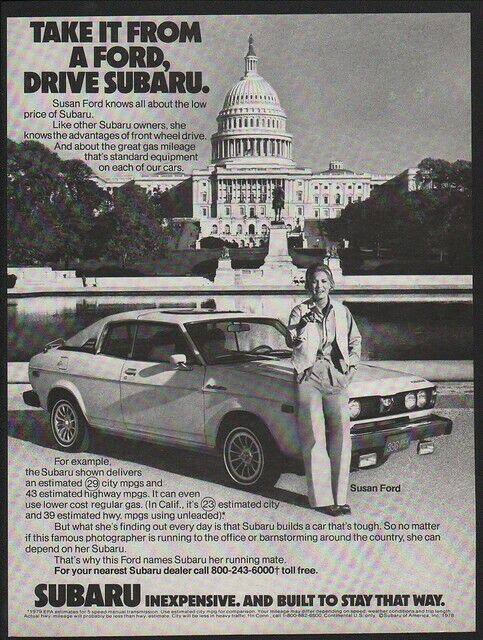 1979 SUBARU Car - Famous  Photgrapher SUSAN FORD - Capital Building   VINTAGE AD