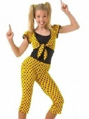 Soda Shop Rock Dance Costume Cami Leotard and Polkadot Capri Pants Child Small