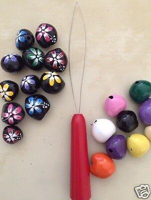 Hawaiian Kukui Nut Wire Threader Tool Lei Making Beading DIY Crafting Hobby - Diy Leis
