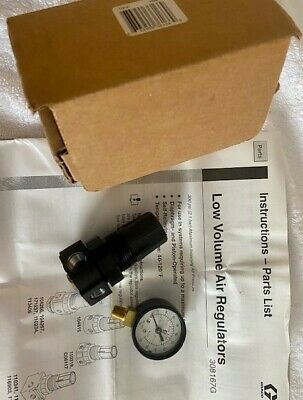 New Graco 110318 Air Regulator - 14 Npt0-180 Psi Range With 0-200 Psi Gauge
