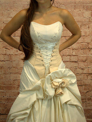 Hochzeitskleid Brautkleid Hochzeit Braut Sissi Sissikleid Größe 36/38 neu beige online kaufen