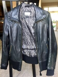 Ladies Leather Jacket by Aritzia