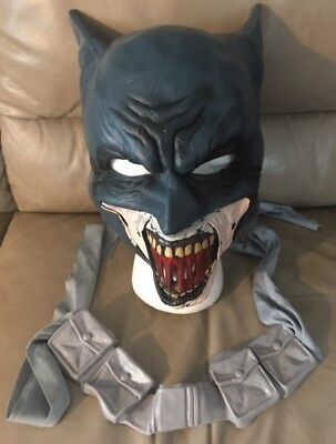 Batman Mask Kids (Batman Zombie Blackest Night Costume Child Kids Mask & Belt Kit Rubies Licensed)