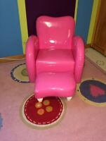 Child's reading chair & ottoman.