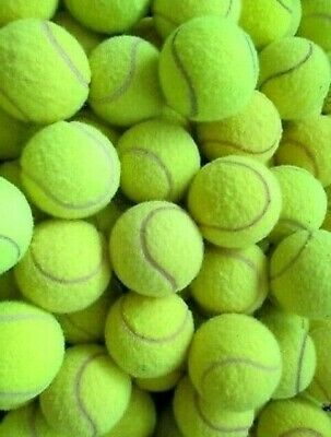 15 USED TENNIS BALLS FOR DOGS-MACHINE WASCHED