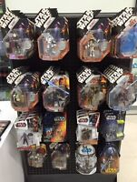 STAR WARS FIGURINES MINT IN BOX OVER 70 OF THEM