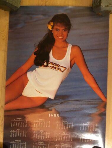 CRAZY SHIRTS HAWAII 1988 Calendar - pin-up Poster 17 x 26 inches