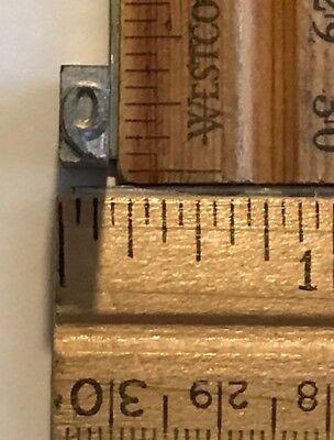 Vintage Antique Metal Printer Printing Press Block Tiny Number 9 7663