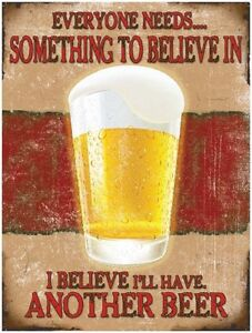 Another Beer, Funny/Humorous, Vintage Retro, Pub, Drink, Small Metal/Tin Sign