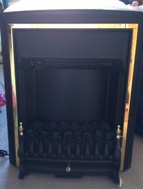 BE MODERN VISCOUNT BLACK ELECTRIC FIRE BNIB,BOX TATTY FROM STORAGE