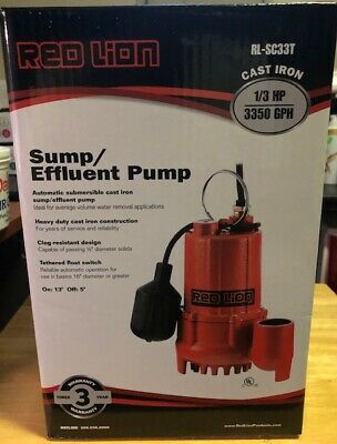 Red Lion 13 Hp 3600-gph Sump Pump With Tethered Float Switch