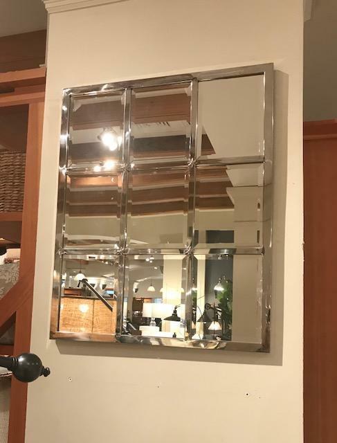Pottery Barn Eagan Wall Mirror Silver Finish 33H Multi Panel