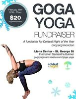 "GoGa-Yoga Fundraiser for ""Coldest Night of the Year"""
