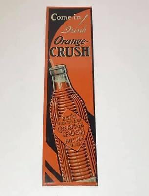 Vintage NOS Orange Crush Soda Pop Cola Christmas Sasheen Pull-String Tiara Bow