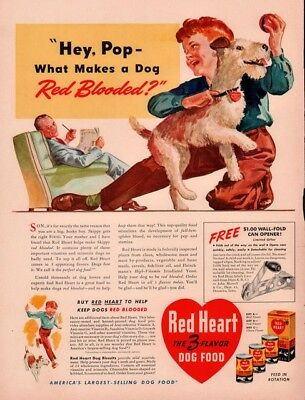 AD LOT OF 2  1940S ADS RED HEART GRO PUP DOG FOOD  TERRIER