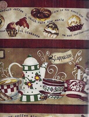 Ткань Cafe Americano coffee kitchen stripe