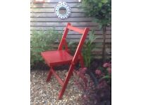 1930s antique folding chair, solid wood, carved with G R VI & the crown symbol, excellent condition