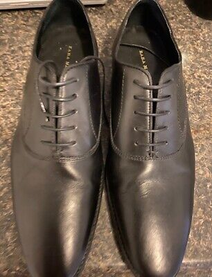 ZARA MAN Black Leather Shoe Size 10 US