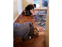 Used solid wood parquet flooring. Approx 9.5 sq m. Free, buyer collects.