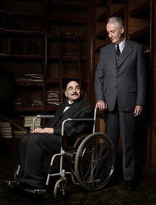 David Suchet and Hugh Fraser UNSIGNED photo - H6011 - Poirot