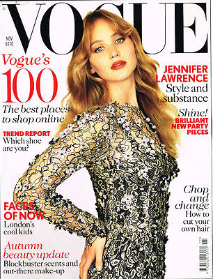 VOGUE UK 11/2012 JENNIFER LAWRENCE Joan Smalls CARA DELEVINGNE Laura Bailey