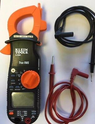 Klein Tools Cl2000 True Rms Acdc 400 Amp Auto-ranging Digital Clamp Meter