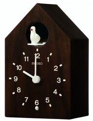 Seiko Wooden Cuckoo Wall Clock QXH070B NEW