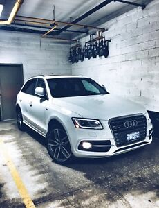 2014 Audi SQ5 3.0 8sp Red and Black leather interior on White