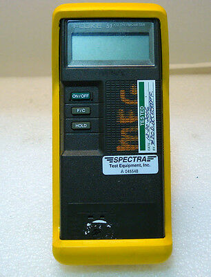 Fluke 51 Kj Thermometer. Warranty.