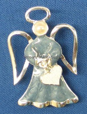 Religious Angel Cherub With A Halo Heart Brooch 6553](Angel With A Halo)