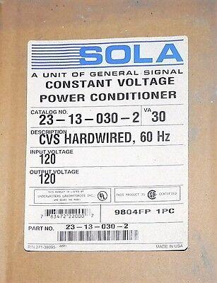 Sola Electric Hevi-duty Constant Voltage Transformer 23-13-030-2 Factory Nib