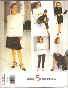 6 New Uncut Very Easy VOGUE Patterns Size 8-10-12 $5 each