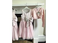 New with Tags. Aged 4 yrs. Gorgeous pink 'Next' Bridesmaid Dress with matching Bolero and Hair Band.