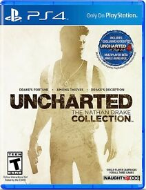 unchartered - the nathan drake collection , ps4 , as new ! price stands , no offers !