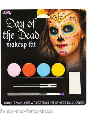 Zuckerschädel Make-Up Make-Up Kostüm Set (Tag Der Toten Kostüme Make-up)