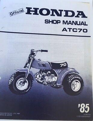 HONDA ATC 70 Workshop Service Manual 1985 Paper bound copy