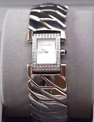 NEW Christian Dior Paris Women's Watch ~ ART DECO, DIAMONDS ~ Retails $1,500