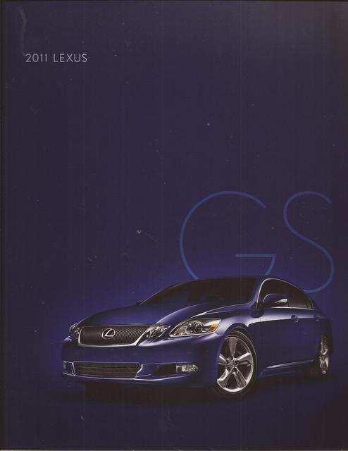 2011 11 Lexus GS original sales brochure