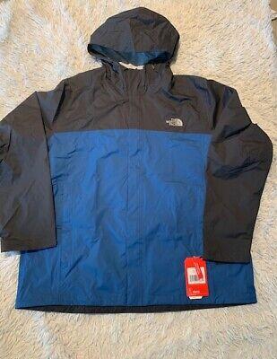 The North Face Venture 2 Waterproof Hooded men Rain Jacket blue gray xl xxl new