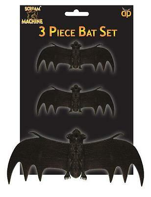 3 x CHEAP Halloween Bats Party Favours, prizes, loot fillers Party Decorations - Halloween Party Decorations Cheap