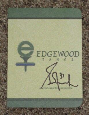 GRANT FUHR Autographed EDGEWOOD TAHOE Scorecard-EDMONTON OILERS