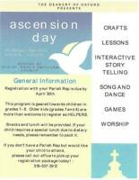 Deanery Children's Holy Day Ascension Day 'Waiting, Watching, Su