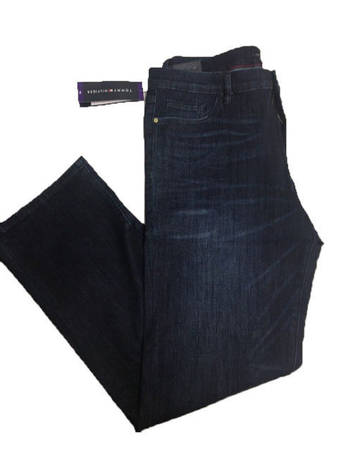 NEW Women's TOMMY HILFIGER Greenwich Straight DENIM Super Da