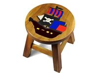 Childrens Wooden Stool - Pirate Ship